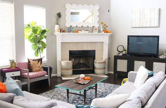 Style It   Adding Fall Decor To The Living Room. Corner FireplacesLife ...