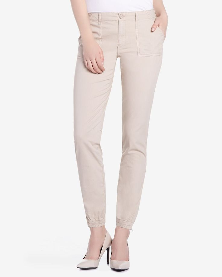 These Casual Pants with Elastic Cuffs are made of cotton and elastane. Enhanced with a zipper at the bottom, it is perfect to keep you in style any day of the week. Pair these with a t-shirt for an easy, comfortable look.