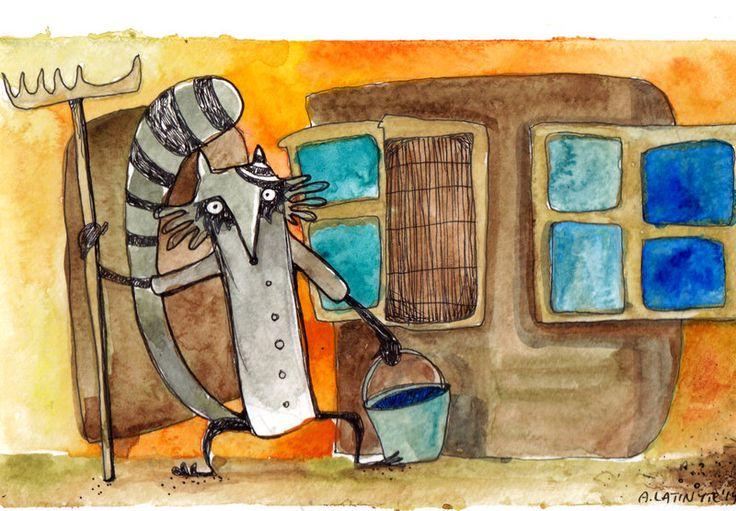 Raccoon the janitor by Yuujin on deviantART