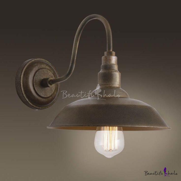 Single Light Small Gooseneck Barn Wall Lighting Indoor