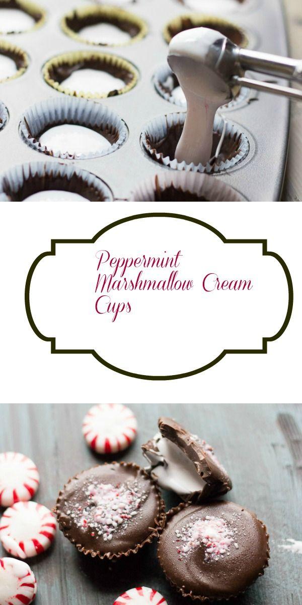 Peppermint Marshmallow Cream Cups - Lemons for Lulu
