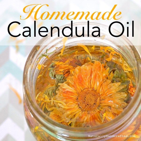 diy homemade calendula oil