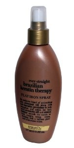 Organix Ever Straight Brazilian Keratin Therapy Flat Iron Spray - love the smell!