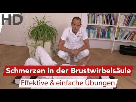 Schmerzen in der Brustwirbelsäule - Übungen vom Schmerzspezialisten - YouTube
