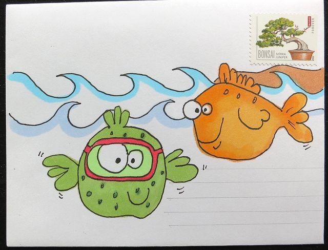 Fun envelope by mamacjt, via Flickr