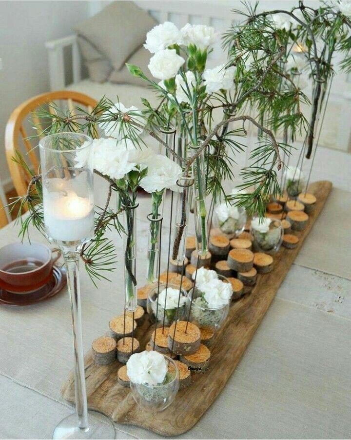 Decoration De Table Nature Jardin Deco Dekoblumen Decoration De Table Nature Composit White Flower Arrangements Floral Designs Arrangements Floral Decor