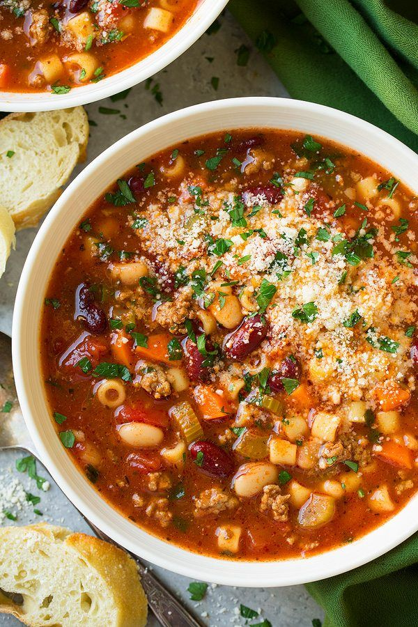 Olive Garden Pasta e Fagioli Soup Copycat Recipe - great soup, make again. didn't use any cheese, added salt + pepper to taste. -LB2017