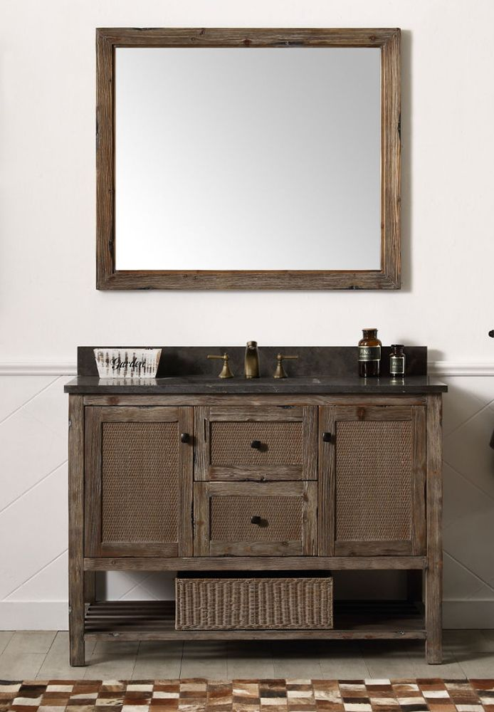 Dora Soo Collection 48 Solid Wood Sink Vanity With Moon Stone Top
