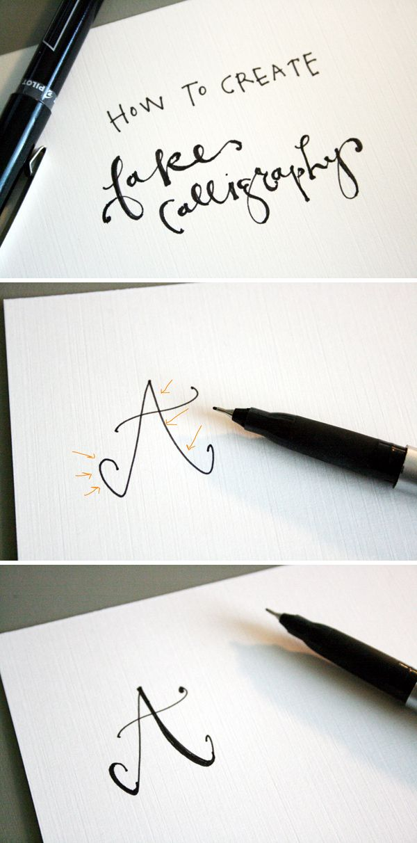 How to create fake calligraphy | Jones Design Company