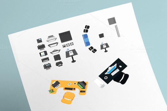 26 Office Icons by barsrsind on Creative Market