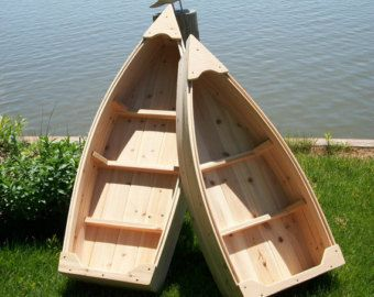 Nautical all cedar boat and trailer outdoor by PoppasBoats on Etsy