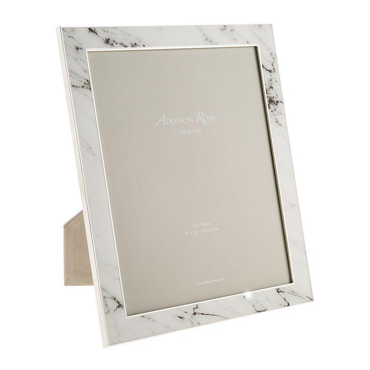 "Addison Ross - White Marble Photo Frame - 8x10"""
