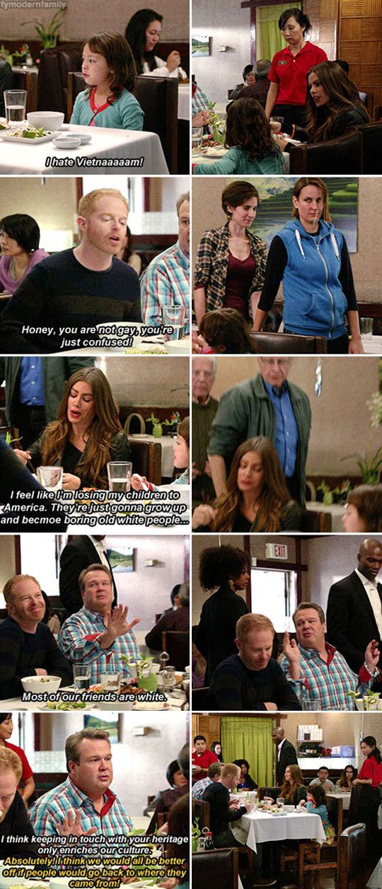 Best Modern Family scene ever…the script writers all should get bonuses. I was squirming in my seat.