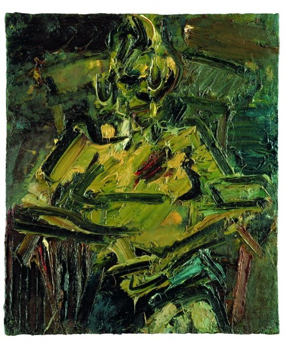 "Frank Auerbach. ""Portrait of Catherine Lampert"". 1981 - 1982."