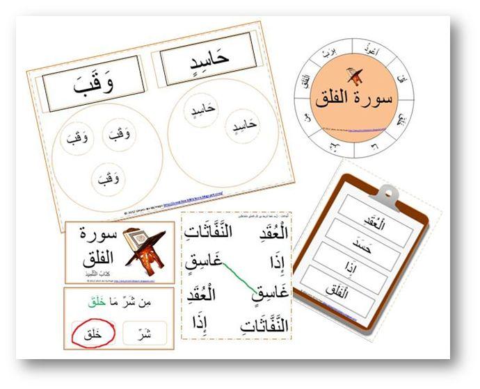السلام عليكم ورحمة الله وبركاته This is the Quraan centre word work for Surah Al-Falaq :  Pictured (from right to left): Quraan wor...