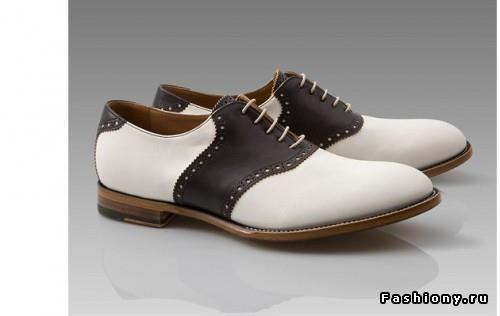 Как называются черно белые туфли как мужские