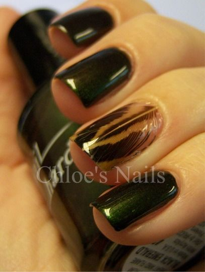 Feather Nail!: Nail Polish, Nailart, Feather Mani, Nail Design, Feathers, Feather Nails, Nail Art