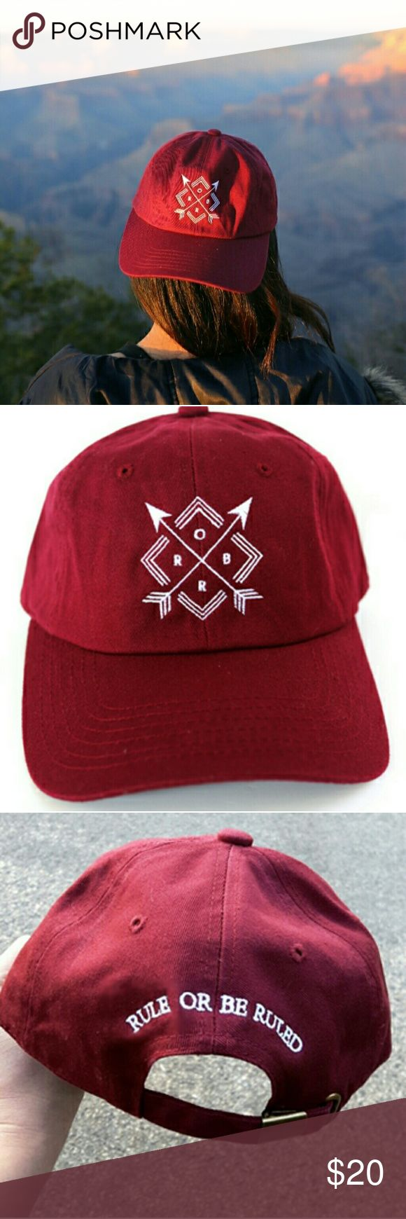 New Rule or be Ruled dad hat This is a new burgundy dad hat with a very sleek and modern design. www.ruleorberuledclothing.com Rule or be Ruled Accessories Hats