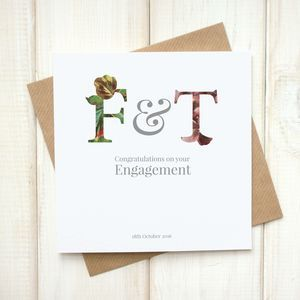 Personalised Floral Engagement Card on notonthehighstreet by Chi-Chi Moi