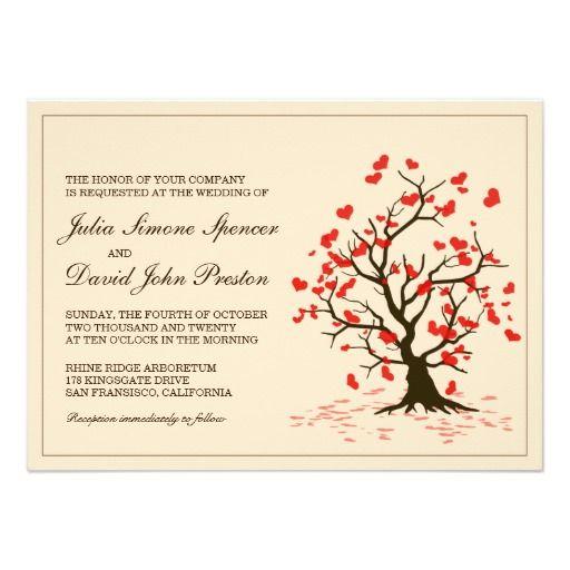 Fall In Love Wedding Invitation Template #wedding #weddinginvitation