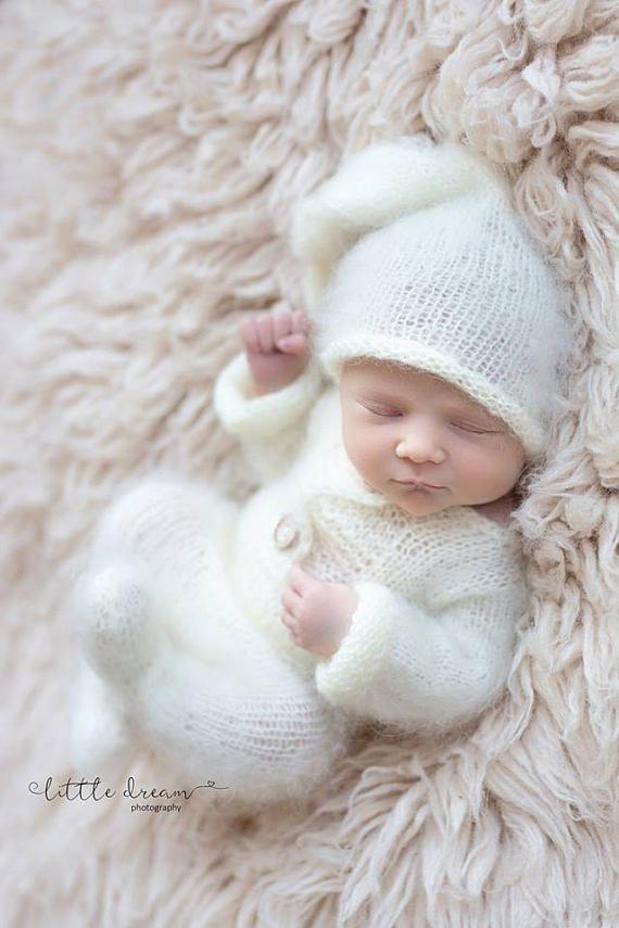 Newborn outfit,snowman christmas props,Newborn onesie,Newborn hat,Photography props,Newborn romper,Creamy outfit,Newborn props