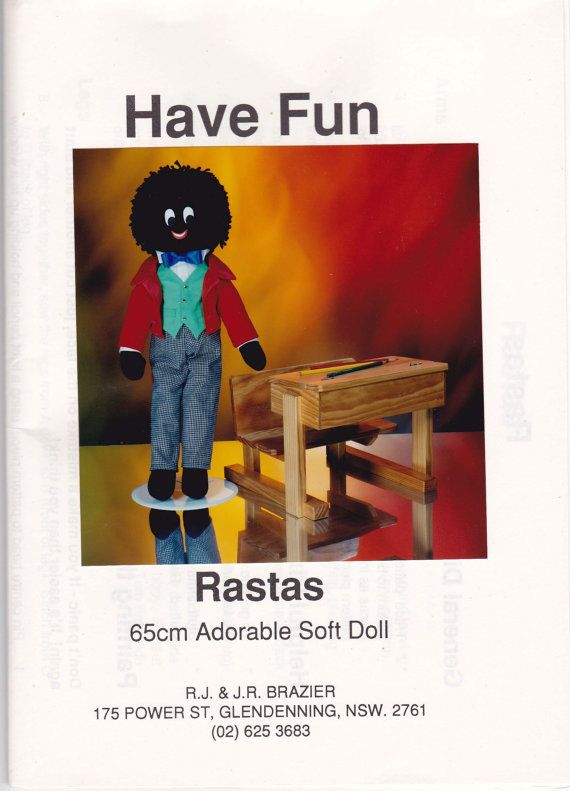 1992 Vintage Sewing pattern Golliwog Stuffed Toy UNCUT FF on Etsy, $10.62 AUD