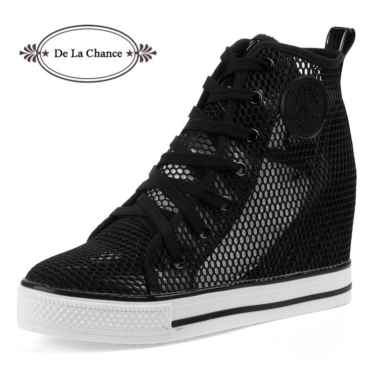Hollow Brand High Tops Breathable Wedges Platform Women Casual Shoes Woman 2016 Summer Autumn High Heel Wedge Boots #women, #men, #hats, #watches, #belts