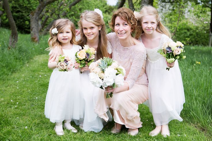 The Bride and her flower girls...