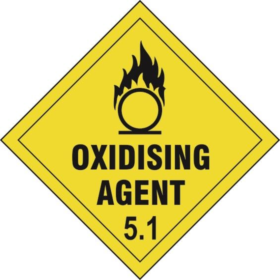 Oxidizing Agent 5.1 Diamond Label