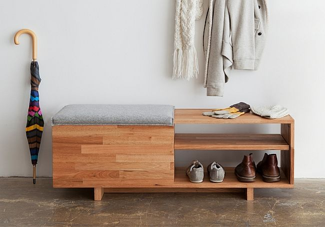 Stylish storage bench from LAX Series by MASH