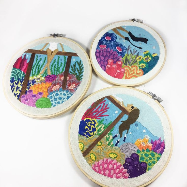 Undersea Embroidery by Christa Gracia S
