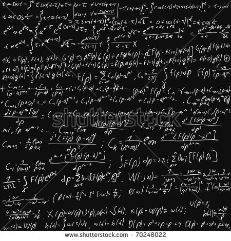 illustration of a chalk board filed with equations. Look for vector version at my portfolio.