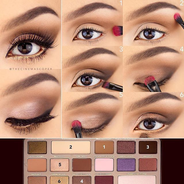 Love this step-by-step pictorial by @thecinemascoper and the gorgeous look she created with our Chocolate Bar Palette! #regram #chocolatebarpalette #toofaced