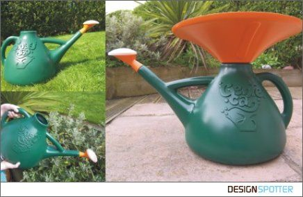 A watering can that collects rain water! I bet you could put a funnel in one you already have.....