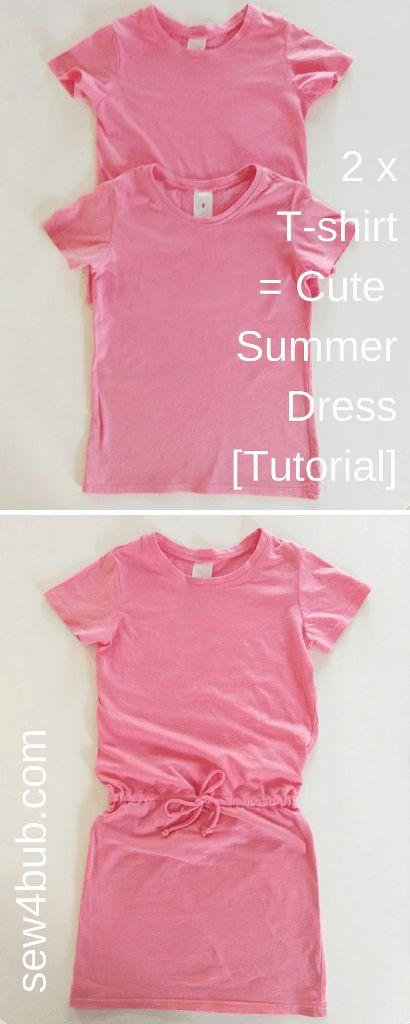 2 x T-Shirts = Cute Summer Dress [Tutorial] | Sew 4 Bub