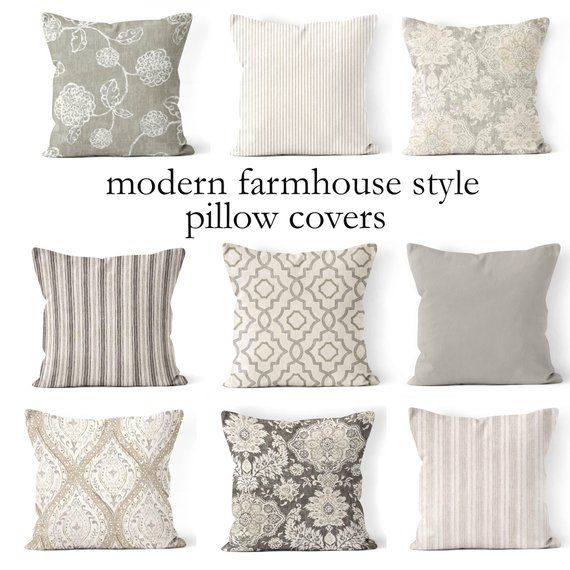 Throw Pillow Coversmix And Match Farmhouse Pillow Cover Etsy