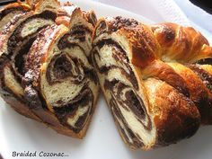 Cozonac, a Romanian nut-filled bread prepared for the holidays.