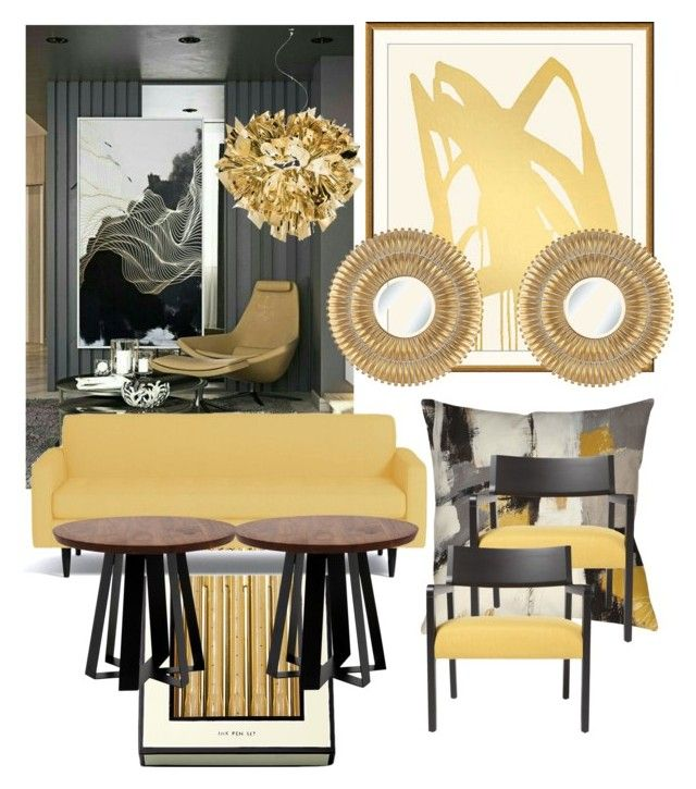 Shapes in GOLD by myhouse-myideas on Polyvore featuring polyvore interior interiors interior design home home decor interior decorating artless Slamp Thumbprintz Kate Spade Noble Park