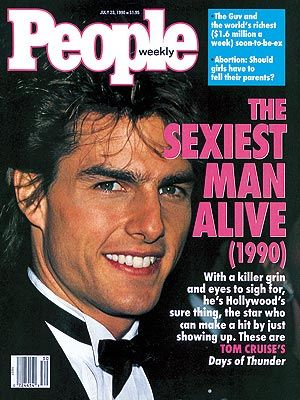 tom cruise- sexiest man alive the year i was born... i can agree to that- but the fact that they used this pic