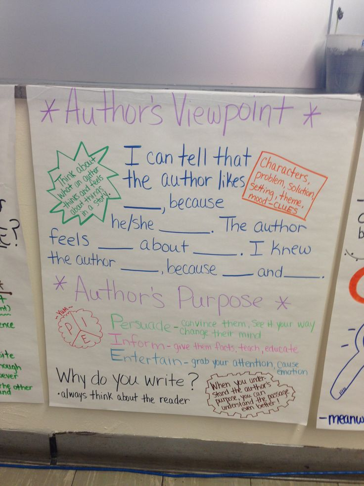 author u0026 39 s viewpoint anchor chart