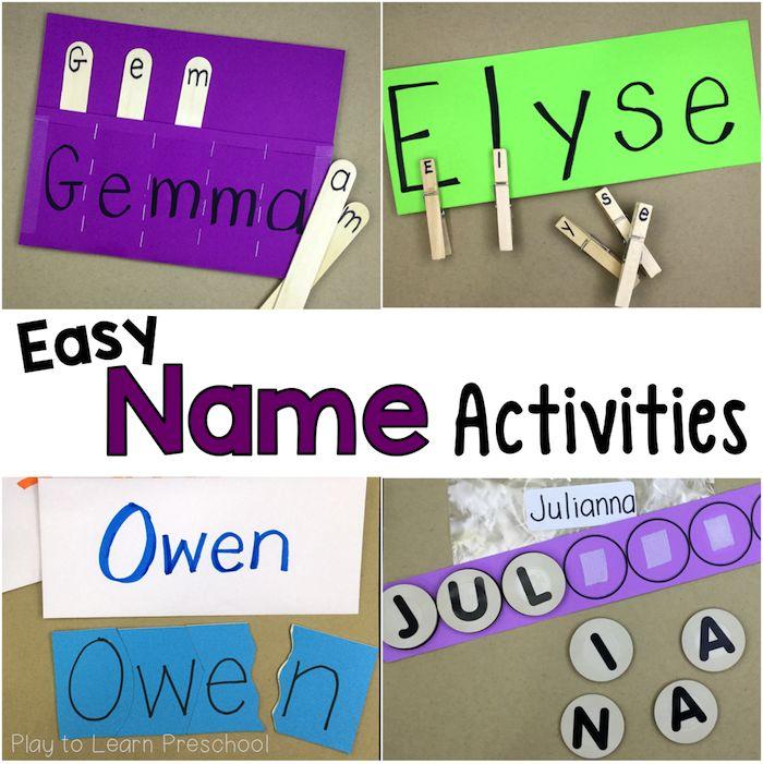 Easy Do-It-Yourself Name Activities for Preschoolers