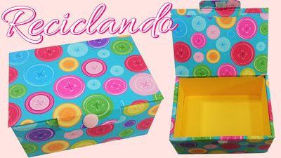 Artesanato Viviane Magalhães: DIY - Caixa Organizadora  (reciclando caixa de pap...