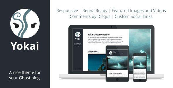 Yokai — Responsive Ghost Theme - Ghost Themes Blogging