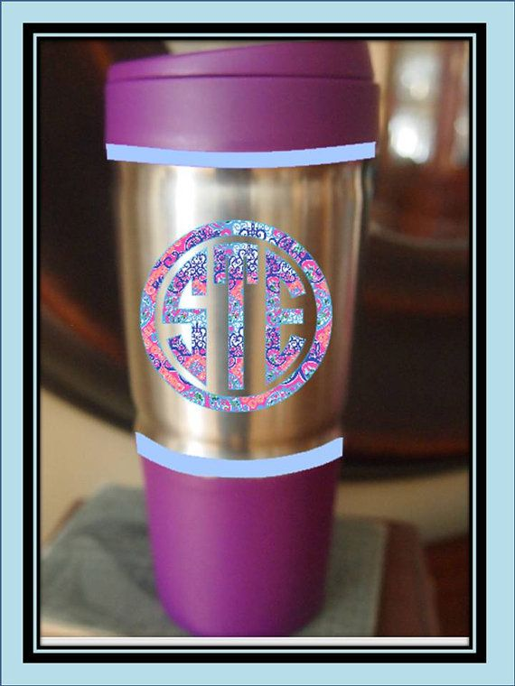 Monogrammed Plum Bubba Thermos Tumbler 24 oz. by moorecoolers