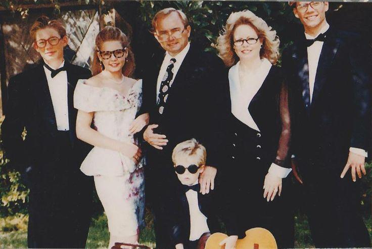 Caleb Walker, Ashlie Walker, Paul Walker III, Cody Walker,Cheryl Walker y Paul Walker, años 80