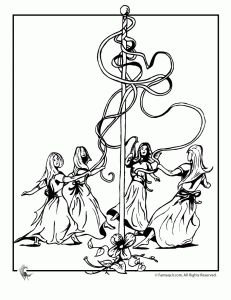 maypole coloring pages