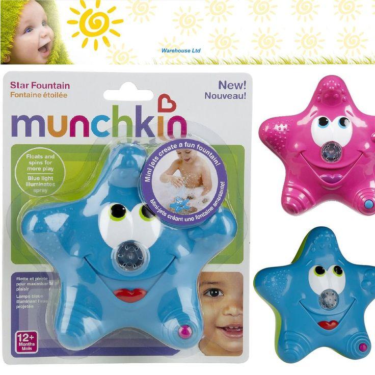 Munchkin Star Fountain Bath Toy, Water Squirter Boy Girl, Pink or Blue. in Home, Furniture & DIY, Bath, Rubber Ducks & Bath Toys | eBay