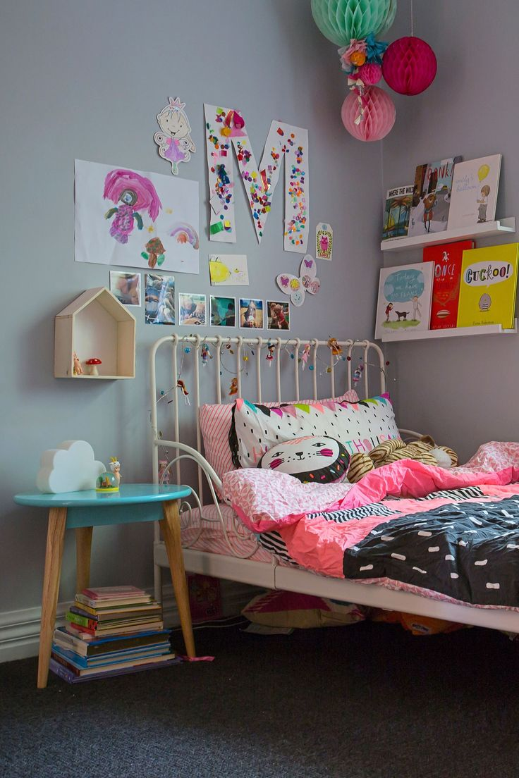 "Emily loves Ikea for furniture for the kids' bedrooms, like the [Minnen extendable bed frame in white.](http://www.ikea.com/au/en/catalog/products/S79124620/?utm_campaign=supplier/|target=""_blank"")"
