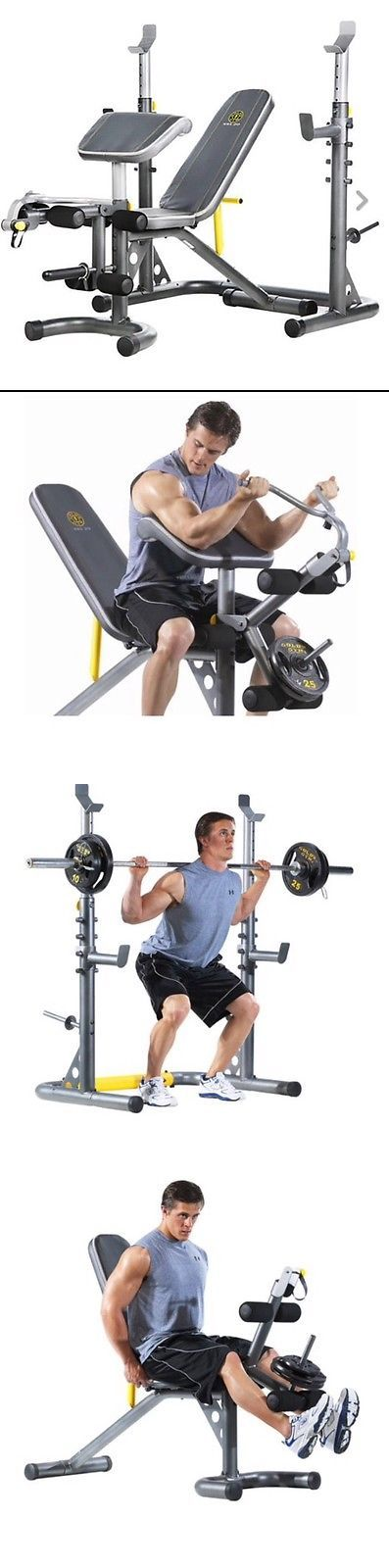 Benches 15281: Golds Gym Xrs 20 Olympic Utility Bench Weight Home Gym Total Body Workout Set -> BUY IT NOW ONLY: $209.99 on eBay!