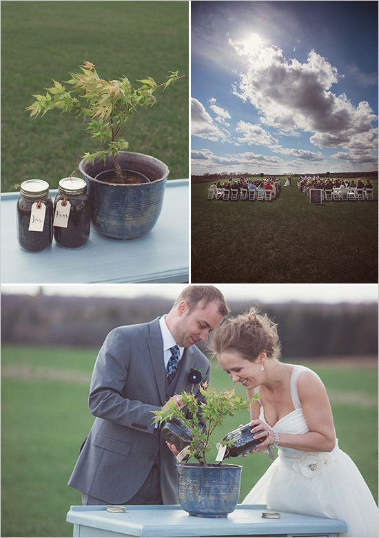tree planting wedding ceremony
